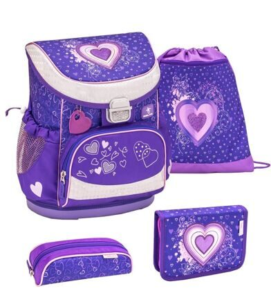 Ранец Belmil MINI-FIT Love Purple с наполнением