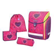 Ранец Herlitz New Midi Plus Pink Hearts с наполнением