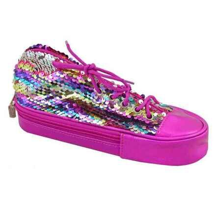 Пенал мягкий YES TP-24 Sneakers with sequins rainbow
